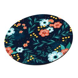 Floral Round Mouse Pads Anti Slip Rubber Gaming Mouse mat De