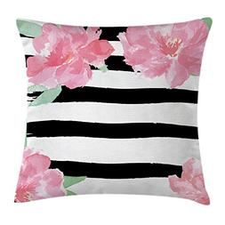 Ambesonne Floral Throw Pillow Cushion Cover by, Watercolor P