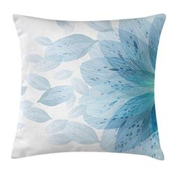 Ambesonne Floral Throw Pillow Cushion Cover by, Round Patter