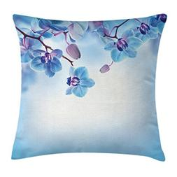 Ambesonne Flower Decor Throw Pillow Cushion Cover, Orchids A