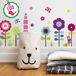 Flower Wall Stickers for Kids - Floral Garden Wall Decals fo