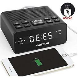 BOCTOP Digital LED Alarm Clock Radio with Sleep Timer FM Rad