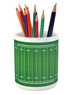 Lunarable Football Pencil Pen Holder, Field of The Game Stra