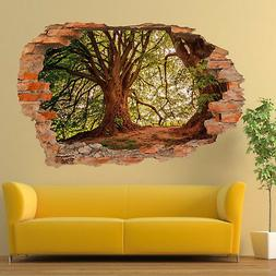 FOREST OLD MAJOR OAK TREES WALL STICKERS 3D ART MURAL ROOM O