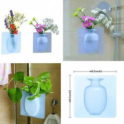 Free Punching Magic Silicone Sticker Wall Hanging Vase Home