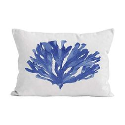 Hahala Funny Blue Coral Hidden Zipper Home Decorative Rectan