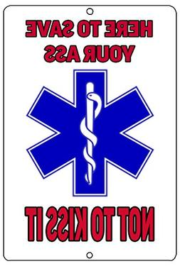 Rogue River Tactical Funny EMT EMS Paramedic Logo Metal Tin