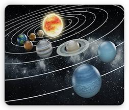 Ambesonne Galaxy Mouse Pad, Solar System All Eight Planets a