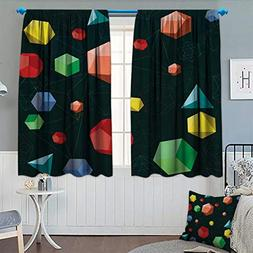 Chaneyhouse Geometric Room Darkening Curtains Geometric 3D S