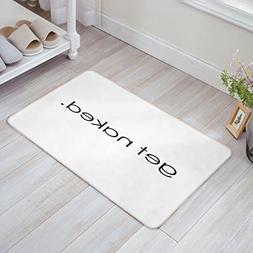 get naked white doormat door