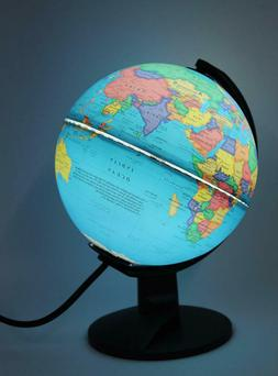 Globe with Light Geographical Details World Globe Home Decor