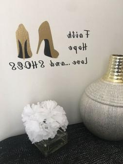 Gold Shoes Lovers Quote Home Office Wall Salon Decor Decal S