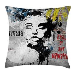 Ambesonne Graffiti Decor Throw Pillow Cushion Cover by, Mode