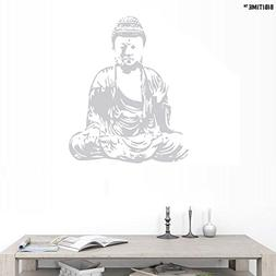 "BIBITIME 22.04"" x 27.16"" Grey Sit in Meditation Buddhism Wal"