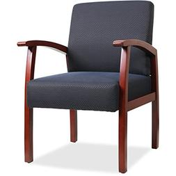 Lorell Guest Chairs, 24 by 25 by 35-1/2-Inch, Cherry/Midnigh