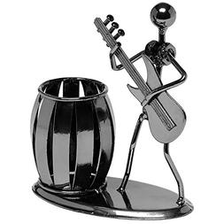Gun Metal Gray Pencil & Pen Holder Display - Guitar Theme De