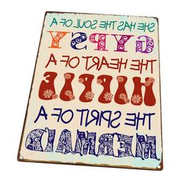 Gypsy Soul Metal Sign; Wall Decor for Office or Meeting Room