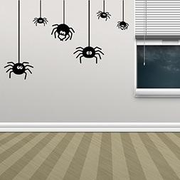 BIBITIME Halloween Wall Art Spider Decal for Wall Sticker fo