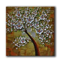 "baccow 2424"" Hand Painted Maple Trees 3D Oil Painting on Can"