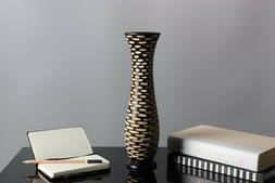 handcrafted wooden dry flower vase home office