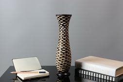 Handcrafted Wooden Dry Flower Vase Home Office Decor