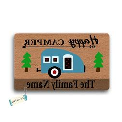 Happy Camper Family Name Personalized Custom Outdoor/Indoor