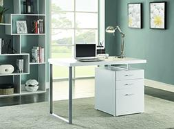 Coaster Hilliard 3 Drawer Computer Desk in White