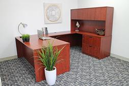 """Boss Office Products Holland 71"""" Executive U-Shape Desk with"""