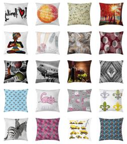 Home & Office Decor Throw Pillow Case Cushion Cover with Zip