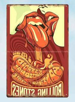 home decor office restaurant rolling stone metal tin sign