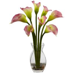 Nearly Natural Home Indoor Decorative Tabletop Classic Calla