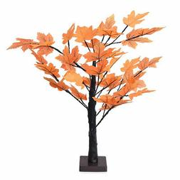 Home Room Office Party Decor LED Light Maple Leaf Tree Lamps