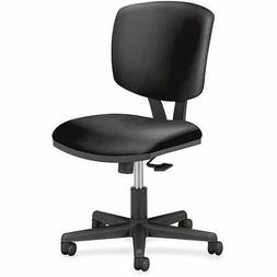 HON Volt Leather Synchro Task Chair, Black