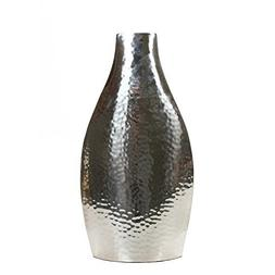"Hosley 17"" High Silver Color Metal Vase. Ideal Gift for Wedd"