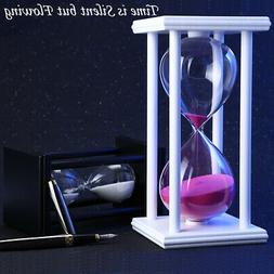 Hourglass 45 Minutes Wood Sand Timer for Kitchen Office Deco