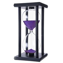45 Minutes Hourglass, iPhyhe Sand Timer with Black Wooden Fr