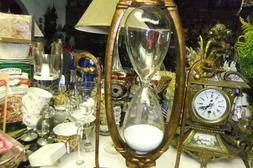 Hourglass Timer Natural Blend Metal Glass 60 Minutes Home Of
