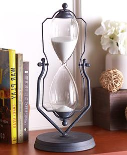 Hourglass Timer One Hour Swivel Stand Kitchen Office Decor M