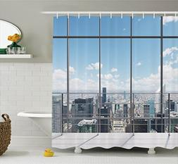 Ambesonne House Decor Shower Curtain Set By, Modern Office W