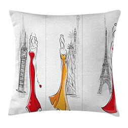Ambesonne Fashion House Decor Throw Pillow Cushion Cover by,
