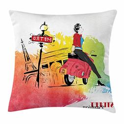 Ambesonne Fashion House Decor Throw Pillow Cushion Cover, Wo