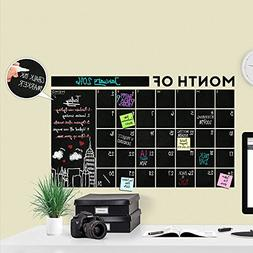 Huge Modern 2017 Monthly Chalkboard Wall Decal Calendar with