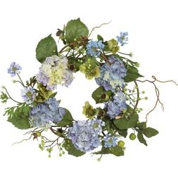 Nearly Natural 20 inch Hydrangea Wreath