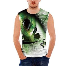 iPrint Mens Performance Muscle T- Shirts Abstract Home Decor
