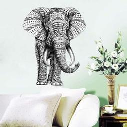 Indian Animal Big Ivory Elephant Design Wall Decal Home Bedr