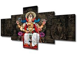 Indian Decor Wall Art Canvas Hindu God Ganesha Pictures Artw