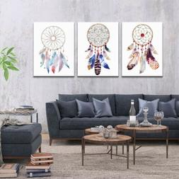 Indian Dream Catcher Feather Poster Nordic Wall Art Home Off