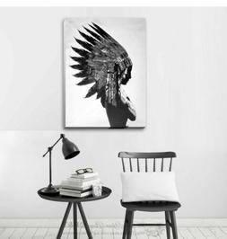 Indian Stretched Canvas Print Framed Wall Art Home Office Sh