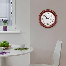 Indoor Home Kitchen Office Decor Atomic Analog Wall Clock Wo