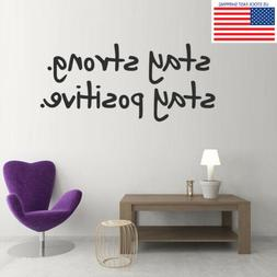 Inspiring Office Saying Quote Wall Sticker Gym Sport Kids Ro